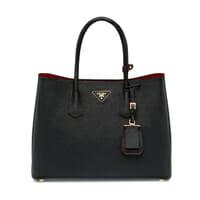 Prada Black Double Bag designer bag for work handbag icon handbagholic 200x200px