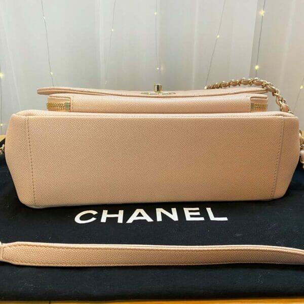 Chanel Large Pink Business Affinity Bag bottom of bag
