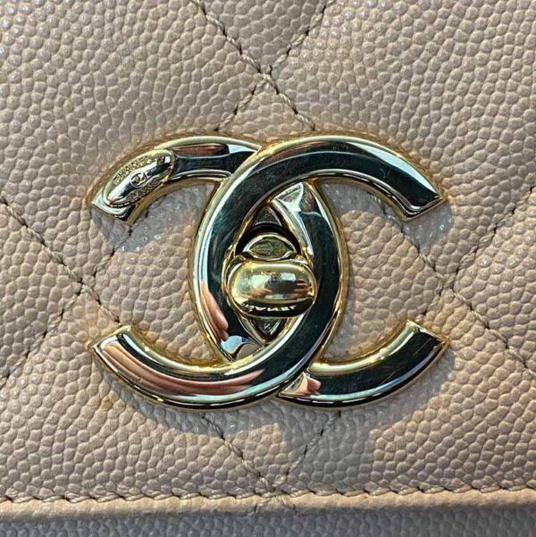 Chanel Large Pink Business Affinity Bag with Gold Hardware CC logo front
