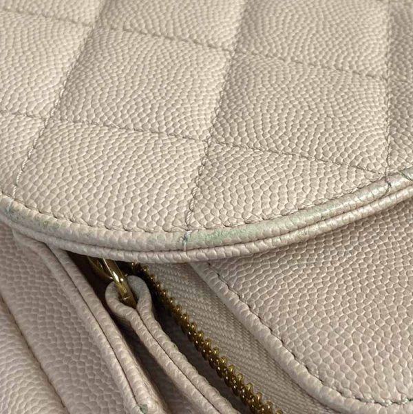Chanel Large Pink Business Affinity Bag with Gold Hardware corner damage