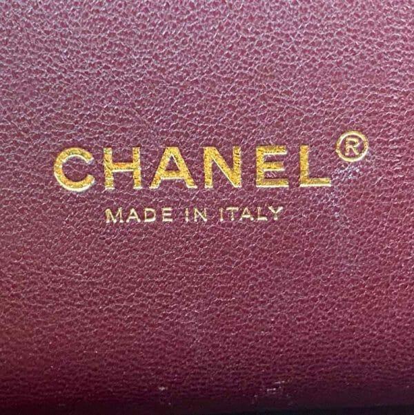 Chanel Large Pink Business Affinity Bag with Gold Hardware logo inside