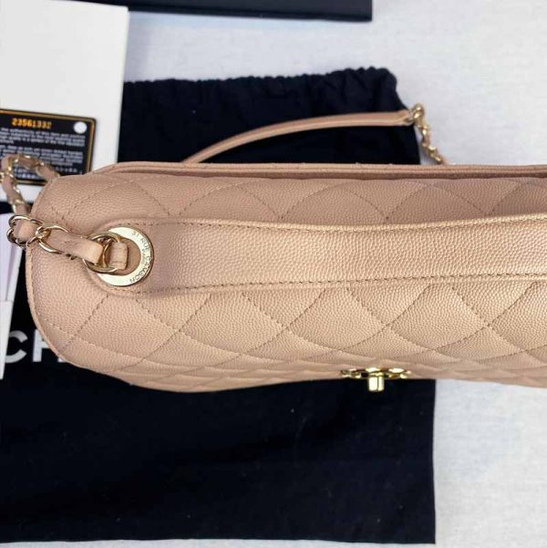Chanel Large Pink Business Affinity Bag with Gold Hardware top handle