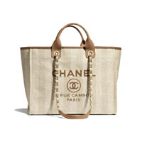 Chanel Shopping Tote Deauville thumbnail handbagholic 200x200px