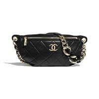 Chanel Waist Bag BumBag Fanny Pack Black thumbnail handbagholic 200x200px