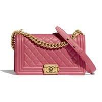 Chanel medium boy bag pink thumbnail handbagholic 200x200px