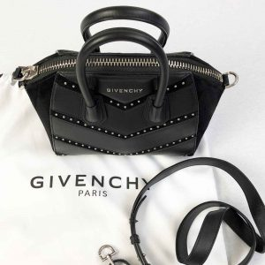 Givenchy Antigona Mini Studded Chevron leather bag handbagholic authentic designer bag 2