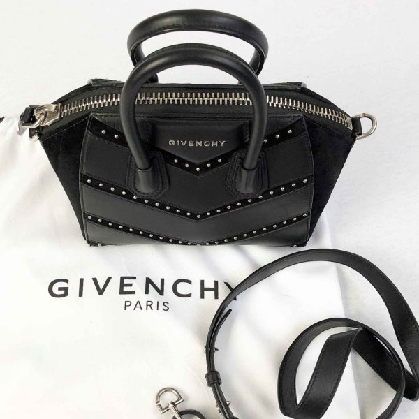 Givenchy Antigona Mini Studded Chevron leather bag handbagholic authentic designer bag 2