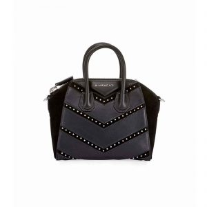 Givenchy Antigona Mini Studded Chevron leather bag handbagholic authentic designer bag