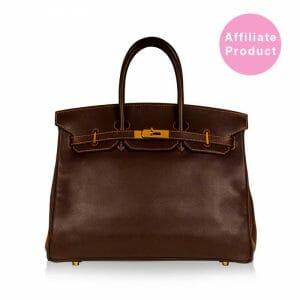 Hermes Birkin 35 Dark Brown with Gold hardware Cheap Discounted
