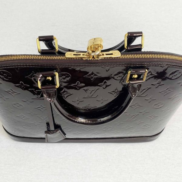 Louis Vuitton Alma GM Large Amarante Vernis Leather Top