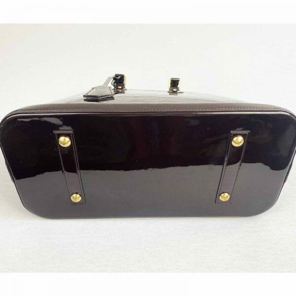 Louis Vuitton Alma GM Large Amarante Vernis Leather bottom
