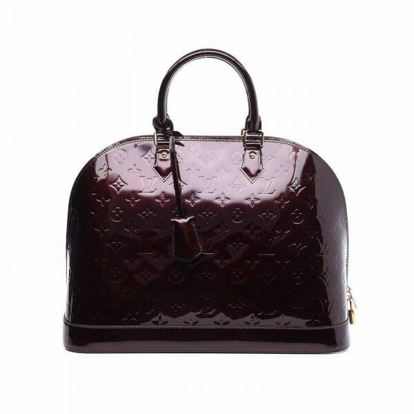 Louis Vuitton Alma GM Large Amarante Vernis Leather handbagholic