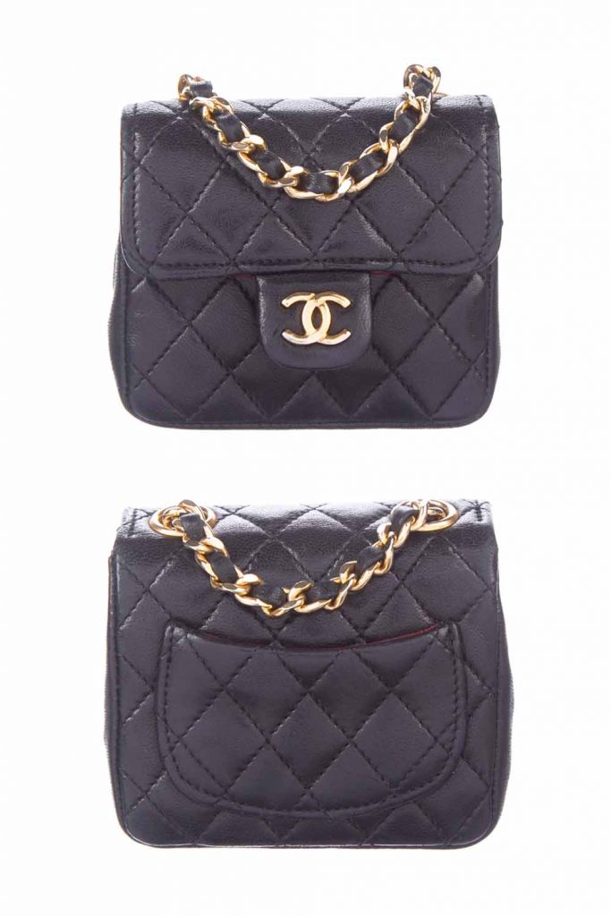 the worlds smallest chanel bag the mini belt bag in black leather
