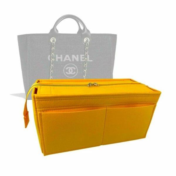 Chanel Deauville Zipped Medium Tote Bag handbag liner protector organiser insert handbagholic