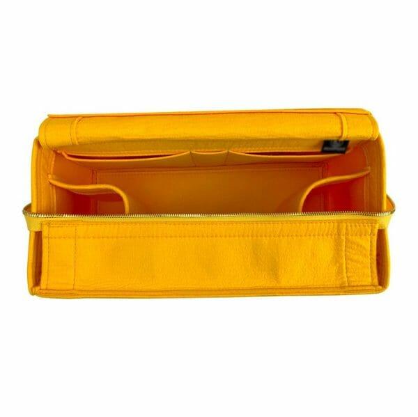 Chanel Deauville Zipped Medium Tote Bag handbag liner protector organiser insert handbagholic secure yellow