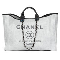 Chanel Extra Large Deauville tote bag thumbnail handbagholic 200x200px