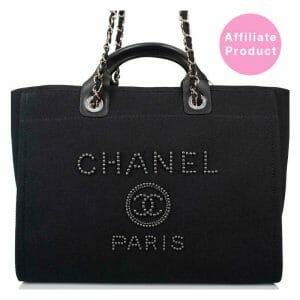 Chanel Pearl Deauville Black Medium Tote Bag