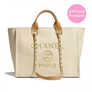 Chanel pearl deauville tote bag beige 2020