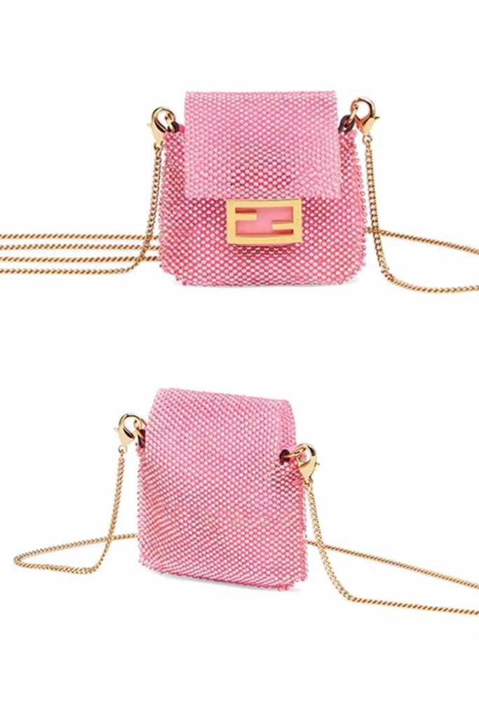 Tiny Fendi Pico baguette charm crossbody bag