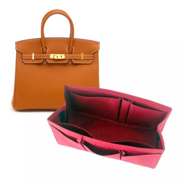 Hermes Birkin 25 organizer handbag liner waterproof Handbagholic