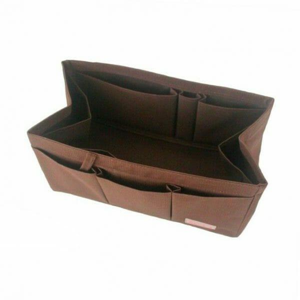 Hermes Birkin 25 organizer handbag liner waterproof Handbagholic brown