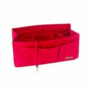 Hermes Birkin 35 organizer handbag liner waterproof handbagholic red