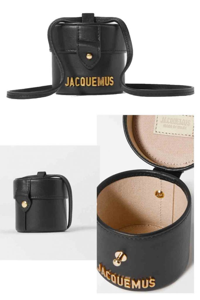 tiny black vanity case bag by Jacquemus