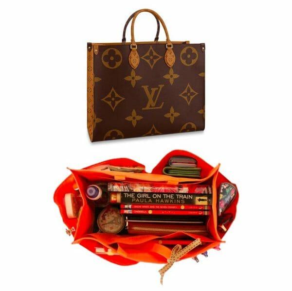 Louis Vuitton OnTheGo Tote Bag MM and GM Waterproof Bagliner Organiser