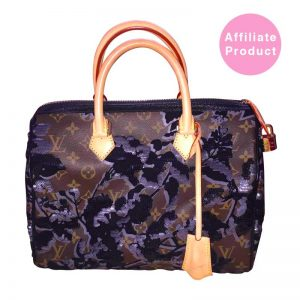 Louis Vuitton Speedy 25 Fleur De Jais Sequin Flowers