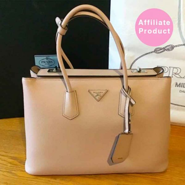 Pink Prada Double Bag Saffiano Leather