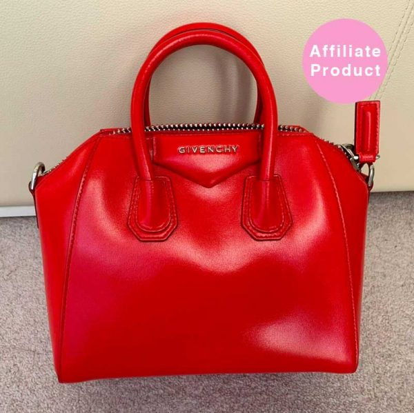 Red givenchy antigona mini calf leather