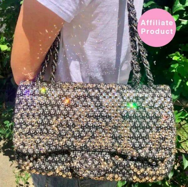 Jumbo Tweed Chanel Classic Flap with Swarovski Crystals