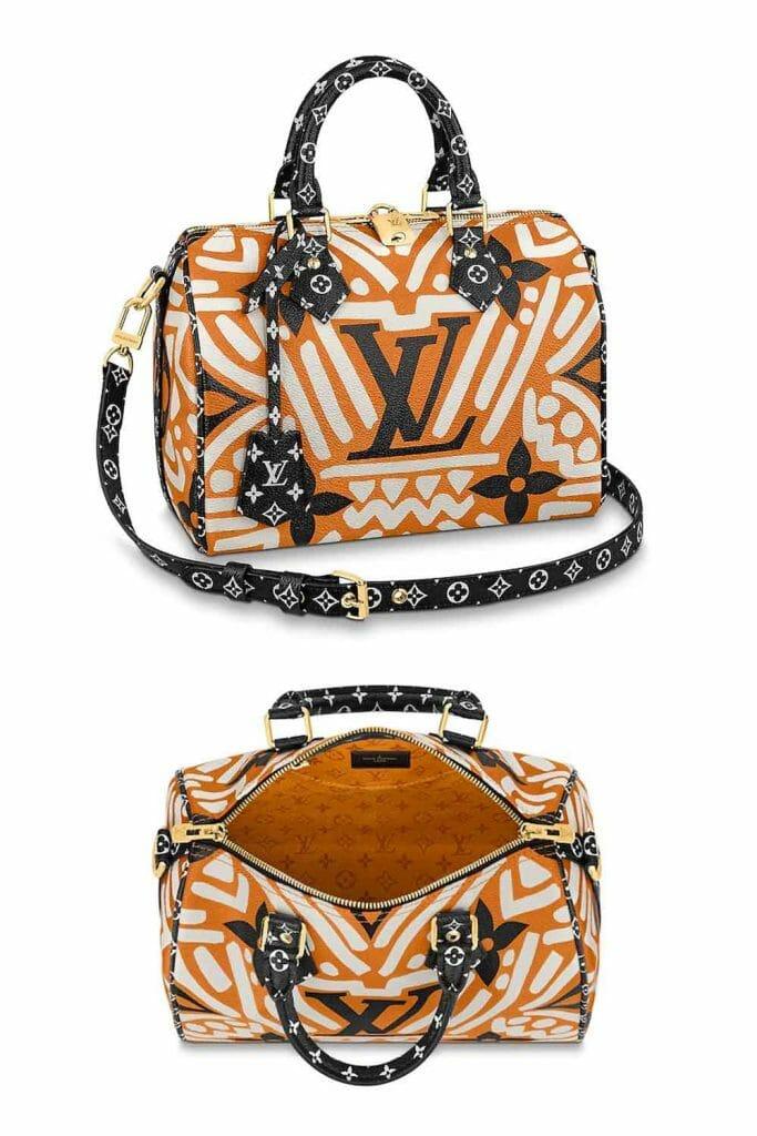 Louis Vuitton LV Speedy 25 Crafty Giant Monogram Cream Caramel
