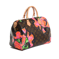 Louis Vuitton Roses Steven Sprouse Speedy 30 Bag Limited Edition