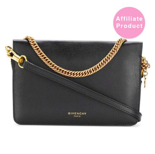 Givenchy black Cross3 Cross Body Bag Leather and Gold
