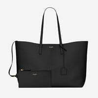 Saint laurent black leather tote bag best designer work bags everyday