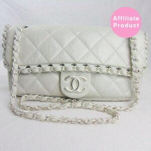 White chanel chain me classic flap bag