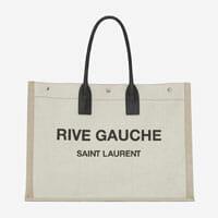 saint laurent RIVE GAUCHE TOTE BAG IN LINEN AND LEATHER designer tote bag handbag icon handbagholic 200x200px