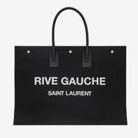 saint laurent RIVE GAUCHE TOTE BAG black white designer tote bag handbag icon handbagholic 200x200px