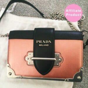 Pink metallic prada cahier bag