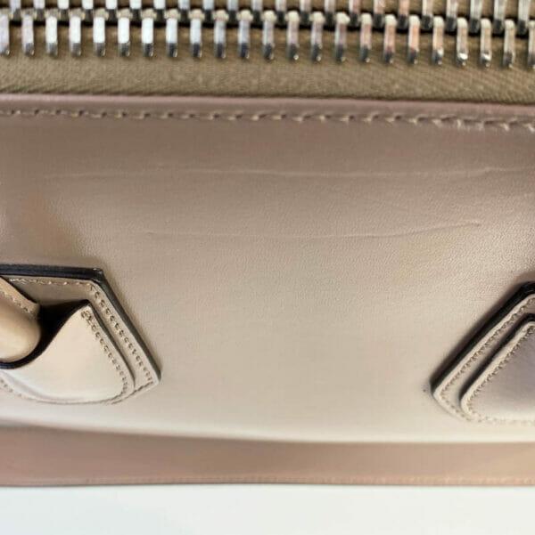 Givenchy Antigona Medium Taupe Bag Nude Beige dints on back of bag