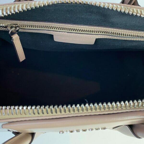 Givenchy Antigona Medium Taupe Bag Nude Beige lining 1
