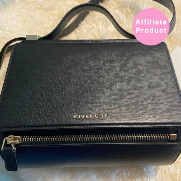 Givenchy pandora box medium black leather bag