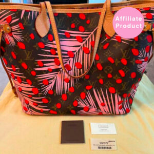 Limited edition louis vuitton neverfull mm jungle print