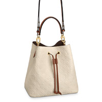 Louis Vuitton M45307 NÉONOÉ MM BUCKET BAG Cream Emprinte leather LV Thumbnail