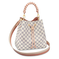 Louis Vuitton NÉONOÉ MM BUCKET BAG damier azur canvas braided handle LV Thumbnail