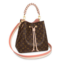 Louis Vuitton NÉONOÉ MM BUCKET BAG monogram canvas braided handle LV Thumbnail