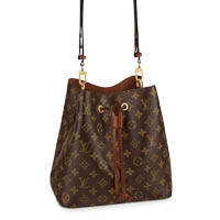 Louis Vuitton NeoNoe bucket monogram caramel bag LV Thumbnail