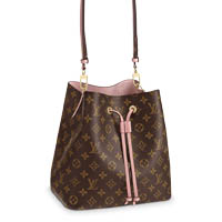 Louis Vuitton NeoNoe monogram pink leather bag LV Thumbnail