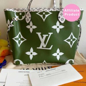 Louis Vuitton Neverfull MM Giant Monogram Green Khaki
